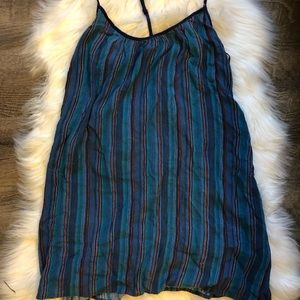 Dresses - Band of Gypsies multicolored stripe tank dress